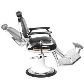 Gabbiano Fotel Barberski Moto Style Czarny #3