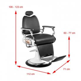 Gabbiano Fotel Barberski Moto Style Czarny #6