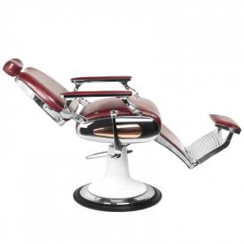Gabbiano Fotel Barberski Moto Style Bordowy #6