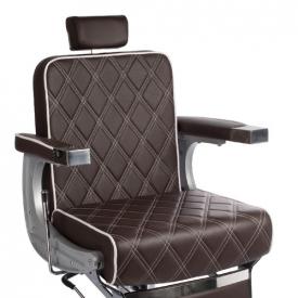 Fotel Barberski Lumber BH-31825 Brązowy Lux #3