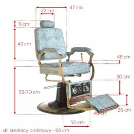 Gabbiano Fotel Barberski Boss Marmur #5