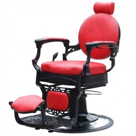 Gabbiano Fotel Barberski President Czerwony #2