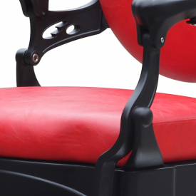 Gabbiano Fotel Barberski President Czerwony #3
