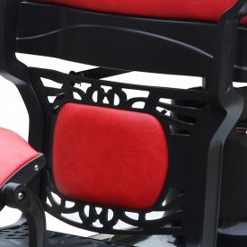 Gabbiano Fotel Barberski President Czerwony #5
