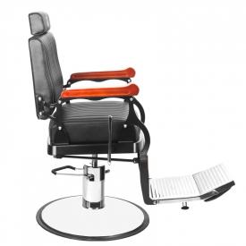 Gabbiano Fotel Barberski Master Czarny #2