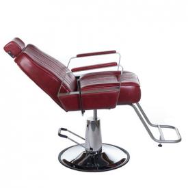Fotel Barberski HOMER BH-31237 Czerwony #4