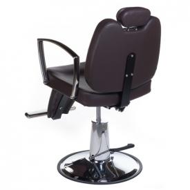 Fotel Barberski HOMER II BH-31275 Brązowy #3