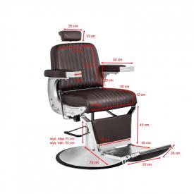 Gabbiano Fotel Barberski Continental Brązowy #6