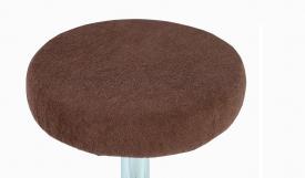 Pokrowiec na taboret frotte czekoladowy 30-40cm #2
