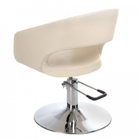 Fotel Fryzjerski Paolo BH-8821 Kremowy #2