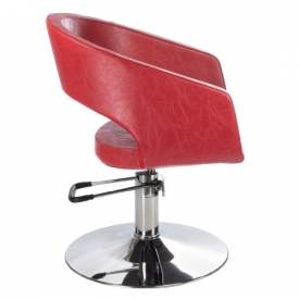 Fotel Fryzjerski Paolo BH-8821 Czerwony #3