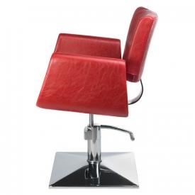 Fotel Fryzjerski Vito BH-8802 Czerwony #2