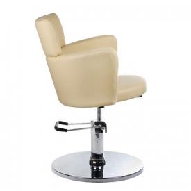 Fotel Fryzjerski LUIGI BR-3927 Kremowy #3