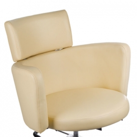 Fotel Fryzjerski LUIGI BR-3927 Kremowy #6