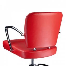 Fotel Fryzjerski LIVIO Czerwony BH-6369 #6