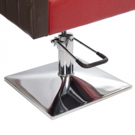 Fotel Fryzjerski Ernesto Czerwono-Brązowy BM-6302 #5