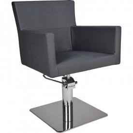 Fotel Fryzjerski Isadora Czarny Baza Kwadrat W 48h #2