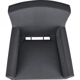 Fotel Fryzjerski Isadora Czarny Baza Kwadrat W 48h #4