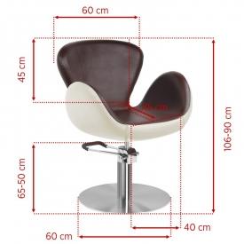 Gabbiano Fotel Fryzjerski Amsterdam Brązowo-Beżowy #2