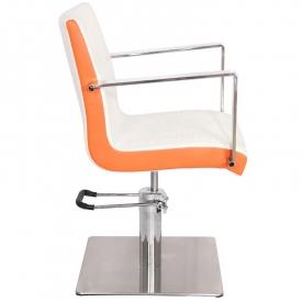 Gabbiano Fotel Fryzjerski Roma Biało-Pomarańczowy #3