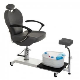 Fotel do pedicure z masażerem stóp BR-2301 szary