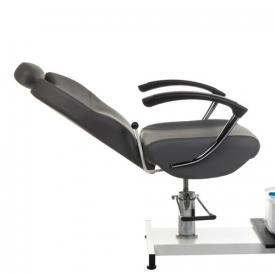 Fotel do pedicure z masażerem stóp BR-2301 szary #3