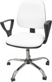 Krzesło kosmetyczne z podłokietnikami KC02