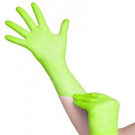 Jednorazowe Rękawiczki Limonka Nitrylowe XS