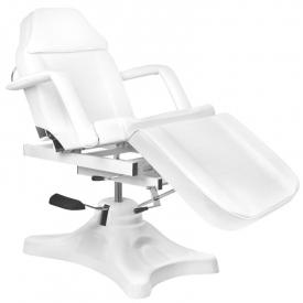 Fotel Kosmetyczny Hyd. A234d Z Kołyską Biały