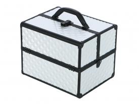 Kufer Kosmetyczny PB1201 Silver Diamond 3D #3
