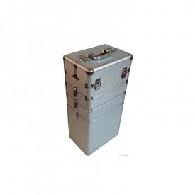 Kufer Kosmetyczny Na Rolkach TC004 Silver Strip