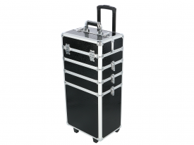 Kufer Kosmetyczny Na Rolkach TC004 Black Croco