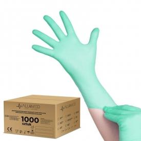 All4med jednorazowe rękawice diagnostyczne nitrylowe zielone xl 10 x 100szt #1