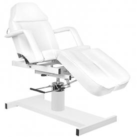 Fotel kosmetyczny hyd. A 210c pedi biały
