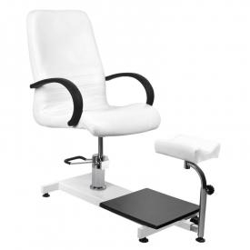 Fotel kosmetyczny hyd. Spa 100 pedi biały