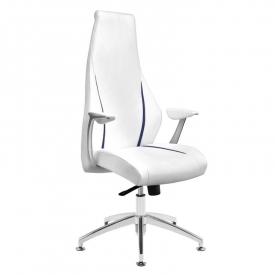 Fotel kosmetyczny rico 106 do pedicure i makijażu biały
