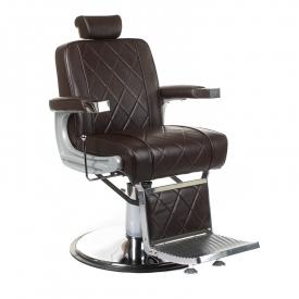 Fotel barberski ODYS BH-31825M Brązowy