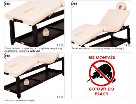 Stół Do Masażu Stacjonarny Spa Manual Venge #4