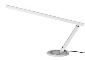 Lampa manicure na biurko aluminium LUX SLIM LED srebrna