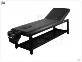 Stół Do Masażu Stacjonarny Spa Plus Black