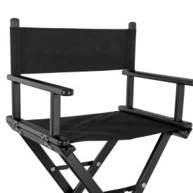 Krzesło Do Makijażu Glamour Aluminiowe Czarne 8600 #1