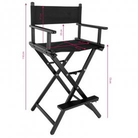 Krzesło Do Makijażu Glamour Aluminiowe Czarne 8600 #3