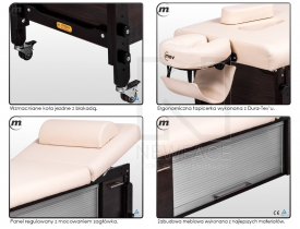 Stół Do Masażu Stacjonarny Moderna P2 K Hot #3