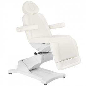 Fotel Kosmetyczny Elektryczny Azzurro 869A Obrotowy 4 Siln. Biały