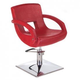 Fotel fryzjerski Nino BH-8805 czerwony