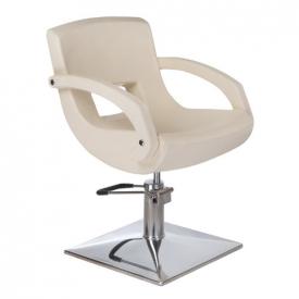 Fotel fryzjerski Nino BH-8805 kremowy