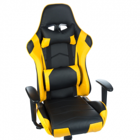 Fotel Gamingowy RACER CorpoComfort BX-3700 Żółty #2