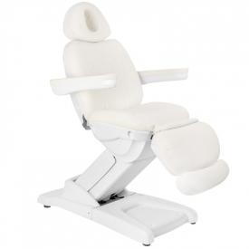 Fotel Kosmetyczny Elektr. Azzurro 872 4 Siln. Biały