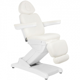 Fotel Kosmetyczny Elektr. Azzurro 871a 2 Siln. Biały