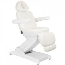 Fotel Kosmetyczny Elektr. Azzurro 871 4 Siln. Biały